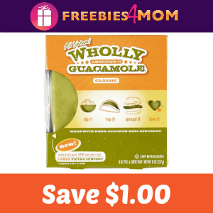 Coupon: $1.00 off one Wholly Guacamole Product