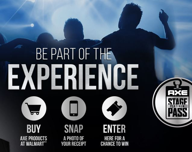 Find AXE® Gift Packs on sale at Walmart and Win an AXE Stage Platinum Pass