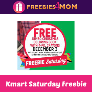 Free Jumbo Christmas Coloring Book at Kmart