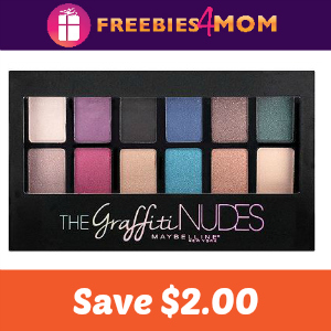 $2.00 off one Maybelline Eye Shadow Palette