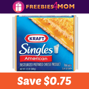 Coupon: $0.75 off one Kraft Singles