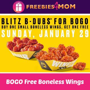 BOGO Free Small Boneless Buffalo Wild Wings