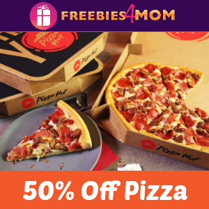 Pizza Hut 50% off Online Pizza Orders
