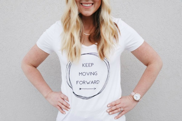 Keep Moving Forward Graphic Tee $16.95