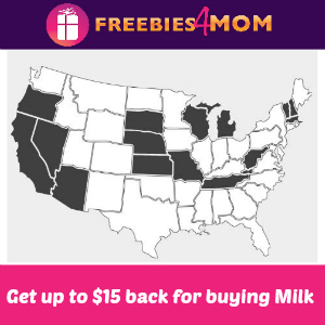 Get up to $15 back for buying Milk since 2003