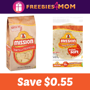 Coupon: $0.55 off one Mission Tortillas or Chips