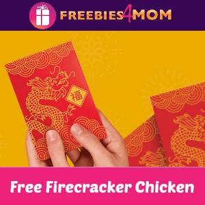 Free Firecracker Chicken at Panda Express