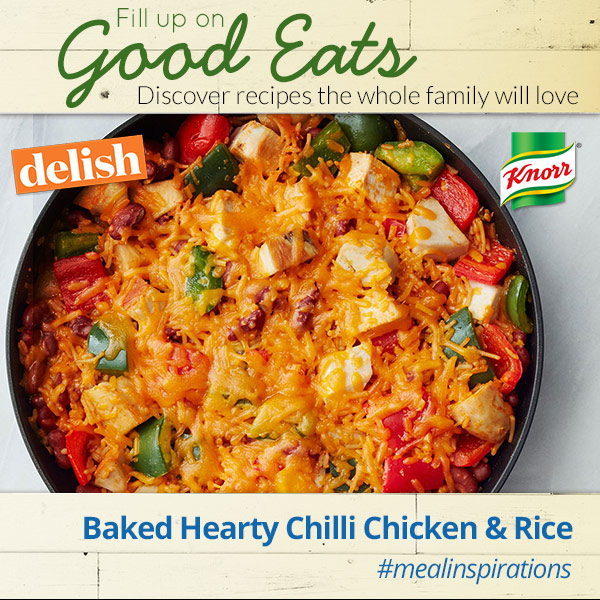 Fill up on Baked Hearty Chili Chicken & Rice