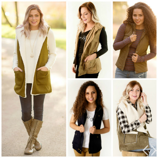 50% off Vests at Cents of Style