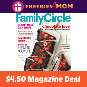 Magazine Deal: Family Circle $4.50