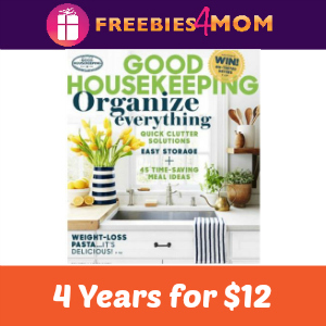 4 years of Good Housekeeping $12