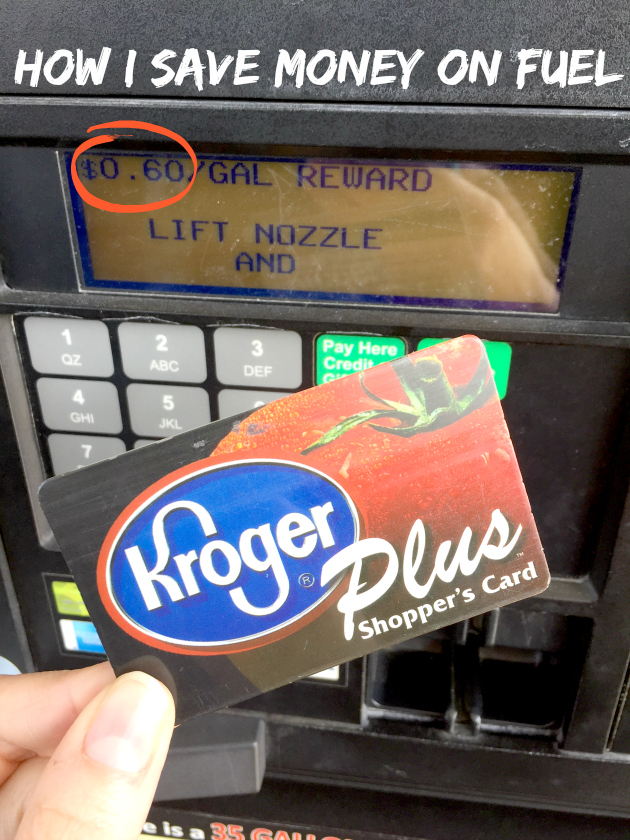 How I Save Money on Fuel with my Kroger Plus shopper's card