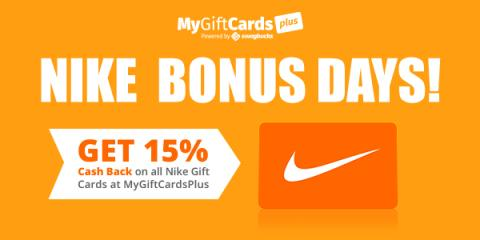 Score 15% Cash Back on Nike Gift Cards