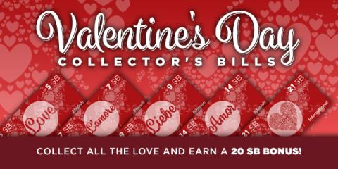 Swagbucks Valentine's Day Collector Bills