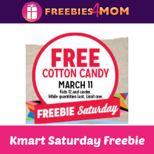 Free Cotton Candy at Kmart Mar. 11