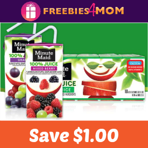 Coupon: $1.00 off one Minute Maid Juice Box