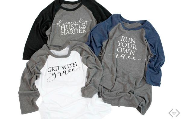 Raglan Graphic T-shirts $16.95 (thru 3/14)