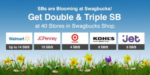 Shopping Deals: Double & Triple Cash Back from Swagbucks
