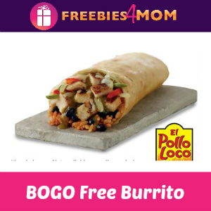 BOGO Free Burrito at El Pollo Loco April 6