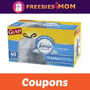 Save on Glad Trash Bags