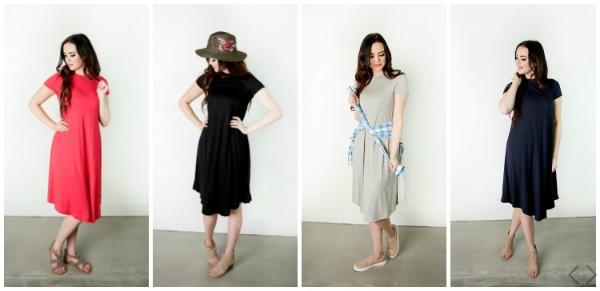 Short Sleeve Swing Dress $21.95