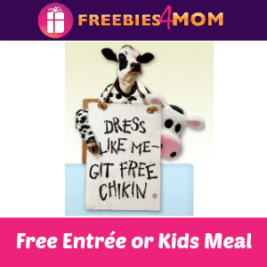 Free Entrée or Kids Meal at Chick-fil-A July 11