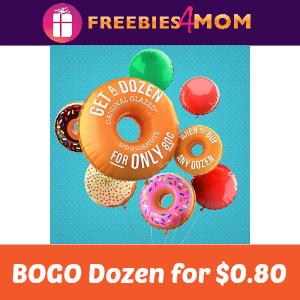 BOGO Krispy Kreme Dozen for $0.80