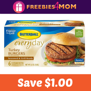 Save $1.00 On Any Butterball Turkey Burgers