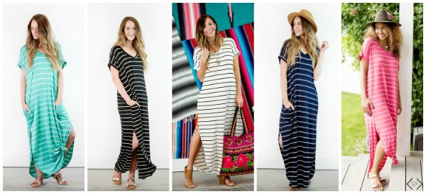 $29.95 Striped Maxi Dress
