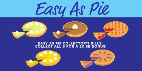 Swagbucks Collector's Bills: Easy As Pie