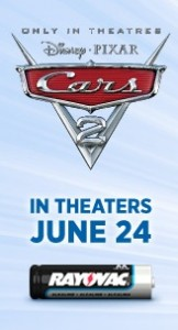 Cars 2 and Rayovac promotion