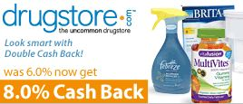 Drugstore.com 8% Cash Back