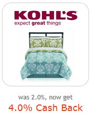 Kohls 4% cash back