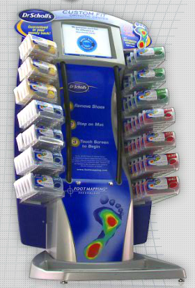 Dr. Scholls Custom Fit Orthotics Kiosk