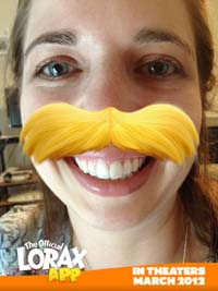 Heather with Lorax Stache