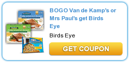 Coupon Buy One Get One Free Van de Kamp's ParchmentBake and Birdds Eye Steamfresh