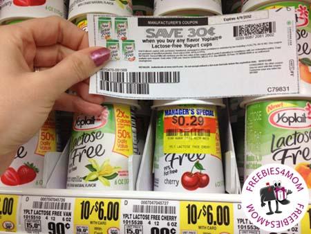 Coupon Save $0.30 Yoplait Lactose-Free Yogurt