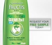 Free Sample Garnier Pure Clean Shampoo+Conditioner