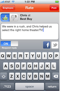Free iTunes App: Tello to Rate Customer Service |