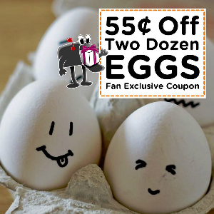 Coupon $0.55 off two dozen Eggs