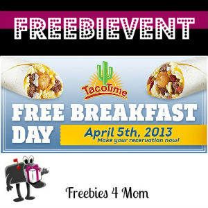 Free Breakfast Day at TacoTime April 5