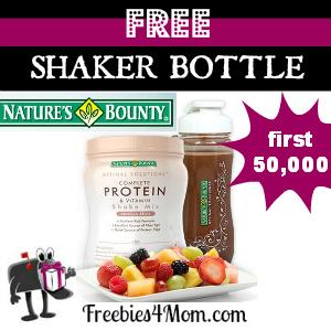 Free Nature's Bounty Shaker Bottle ($10.99 value)