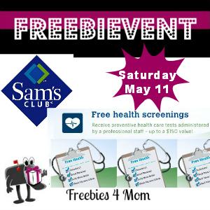 Free Health Screening at Sam's Club May 11