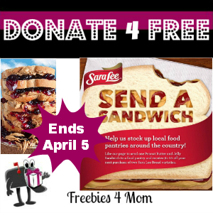 Donate4Free: Sara Lee Send a Sandwich