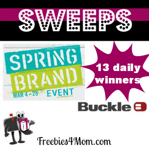 Sweeps Buckle Spring Brand Event (13 Daily Winners)