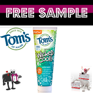 Free Sample Tom's of Maine Toothpaste