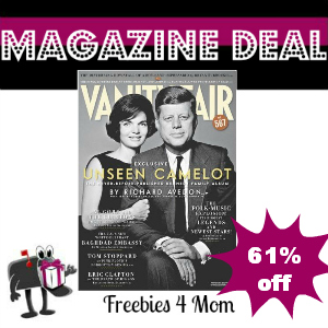 Deal $7.98 for Vanity Fair Magazine