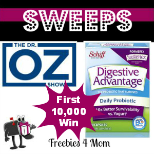 Dr. Oz Digestive Advantage Giveaway April 9 *First 10,000*