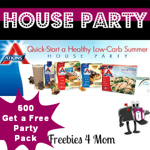 Free House Party: Atkins Quick-Start a Healthy Low-Carb Summer