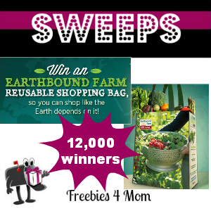 Sweeps Earthbound Farm Earth Day Bag Giveaway (2,400 Daily Winners)
